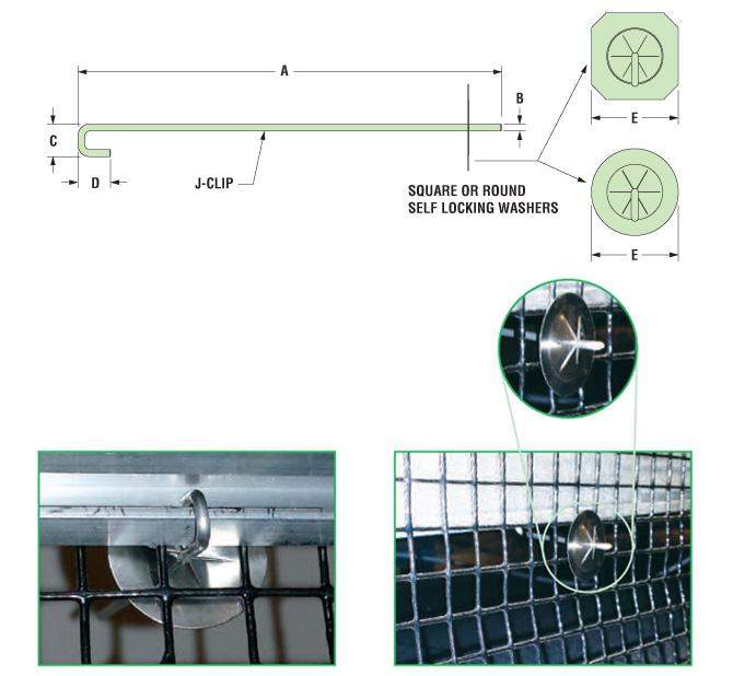 Heyco 174 Sunscreener 174 Wire Mesh Clip
